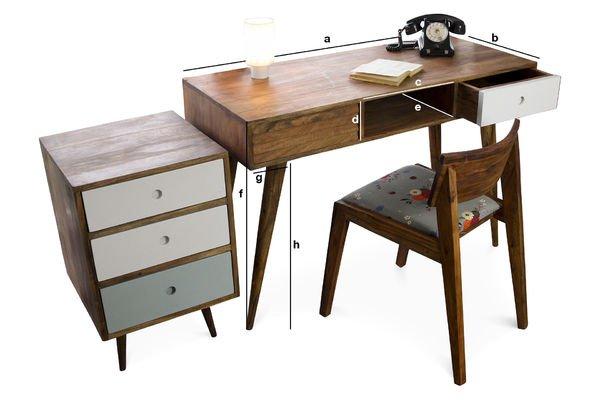 Produktdimensionen Schreibtisch Stockholm