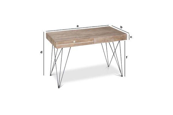 Produktdimensionen Schreibtisch Zürich