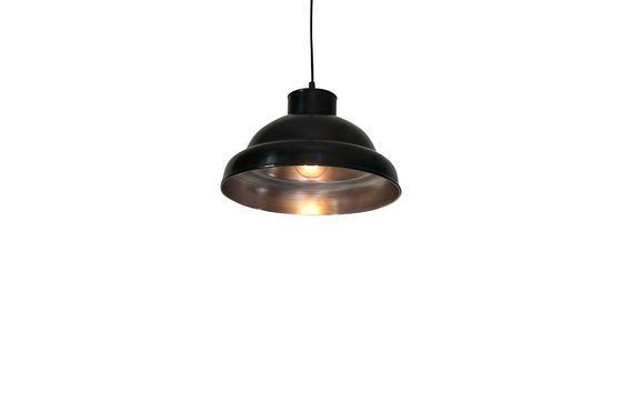 Schwarz-metallene 31 cm große Werkstatt-Hängeleuchte ohne jede Grenze