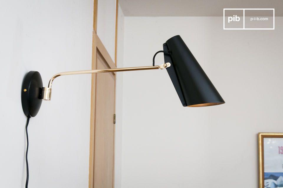 Schwarze Birdy Wandlampe