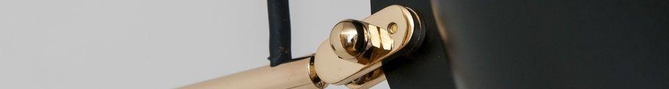 Materialbeschreibung Schwarze Birdy Wandlampe