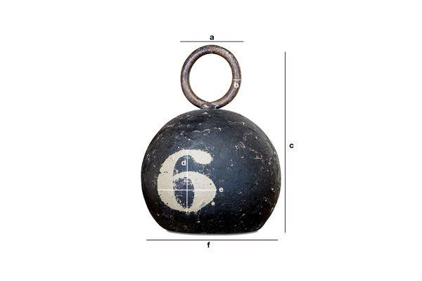 Produktdimensionen Schwarze Kugel Nummer 6