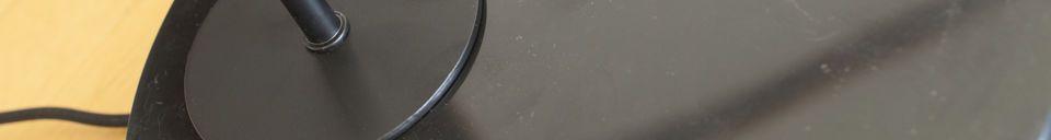 Materialbeschreibung Schwarze Tischlampe Mogens