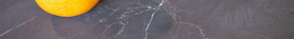 Materialbeschreibung Schwarzer Marmor Beistelltisch Vilma