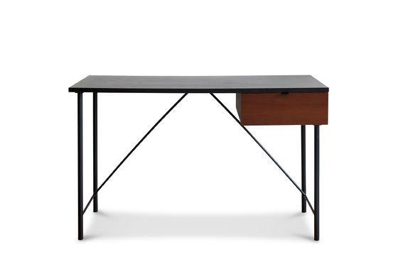 Schwarzer Schreibtisch Kater Hinn ohne jede Grenze