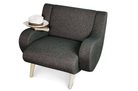 Schwarzer Sessel Genève ohne jede Grenze