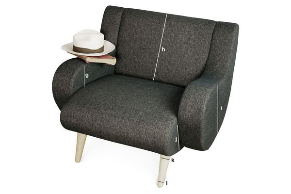 Produktdimensionen Schwarzer Sessel Genève