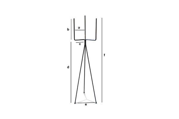 Produktdimensionen Schwarzes Metalltopfgestell