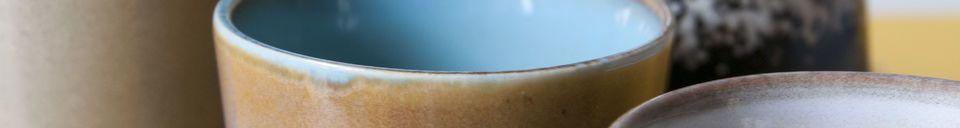 Materialbeschreibung Sechs Keramik Kaffeetassen