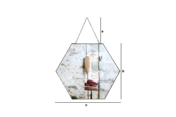 Produktdimensionen Sechseckiger Spiegel Solliès-Pont