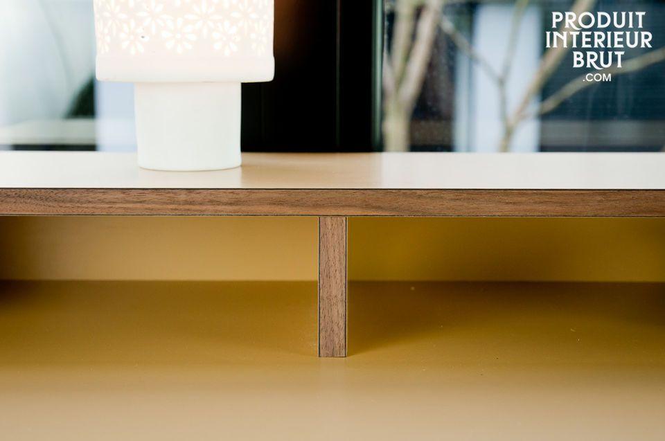Nussbaum- und Schichtholz Sekretär im Skandinavischen Design