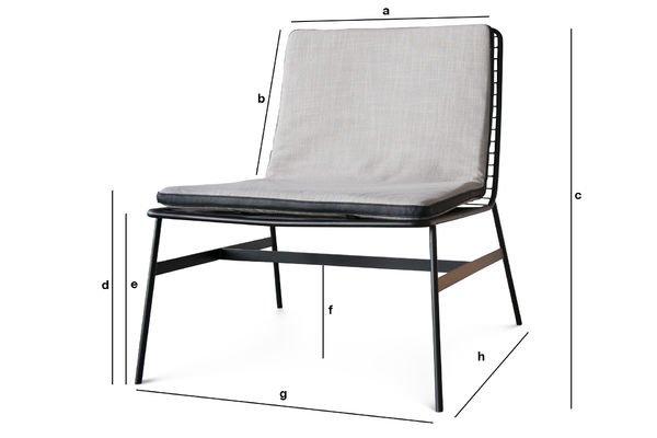 Produktdimensionen Sessel Aston