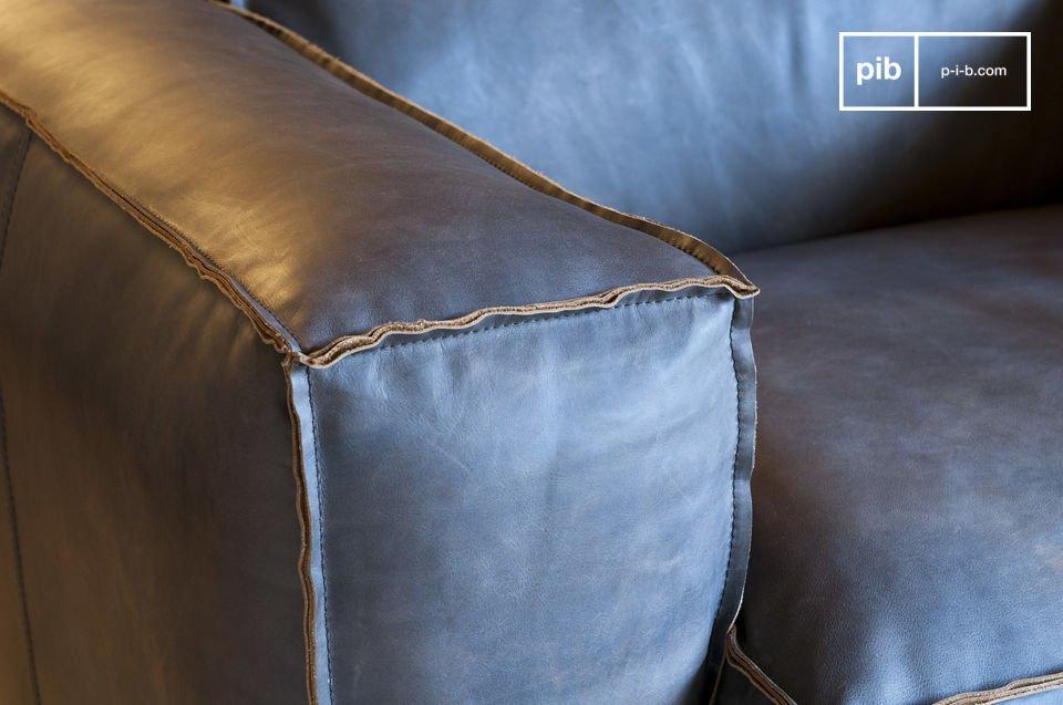 Vollnarbiges Leder im vintage Stil