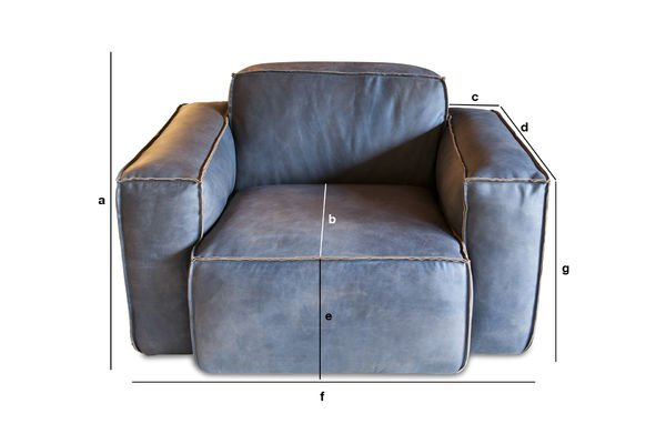 Produktdimensionen Sessel Atsullivan