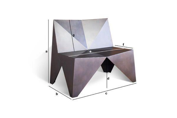 Produktdimensionen Sessel aus Metall Polygone
