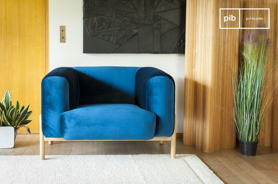 Sessel aus Samt Viela