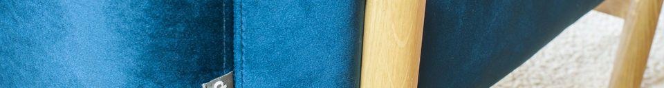 Materialbeschreibung Sessel aus Samt Viela