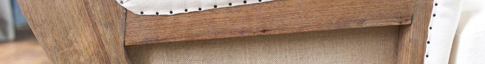 Materialbeschreibung Sessel aus Stoff Gustave