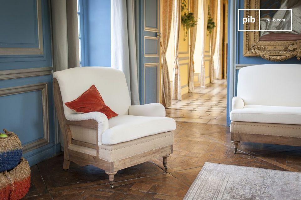 Dieser Sessel kann sehr gut in einem großen Raum verwendet werden oder zusammen mit dem