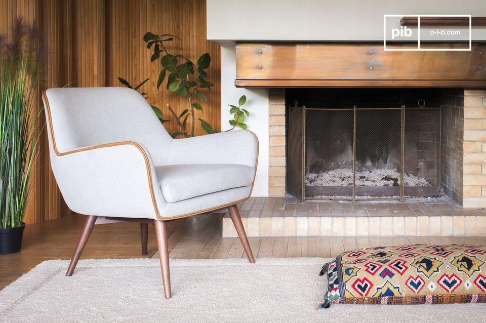 Ein Sessel mit raffiniertem, modernem Design und ausgewogener Ästehtik
