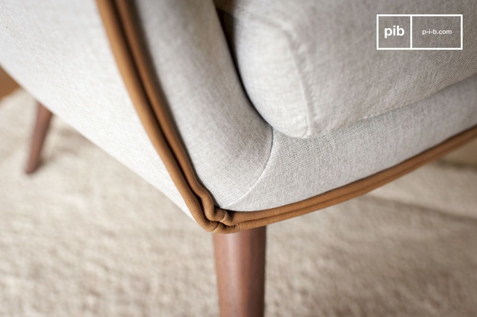 Das Design des Sessels Järvi bringt eine gewisse Leichtigkeit mit sich