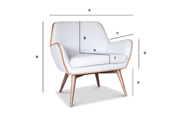 Produktdimensionen Sessel aus Stoff Järvi