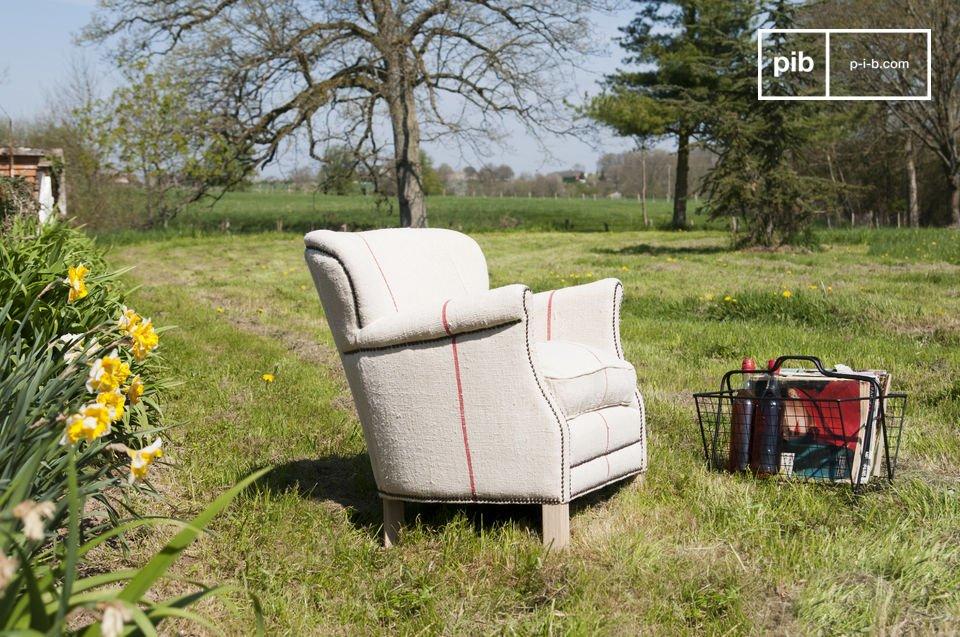 Setzen Sie sich in diesen schönen Sessel und genießen Sie die gemütliche Sitzposition