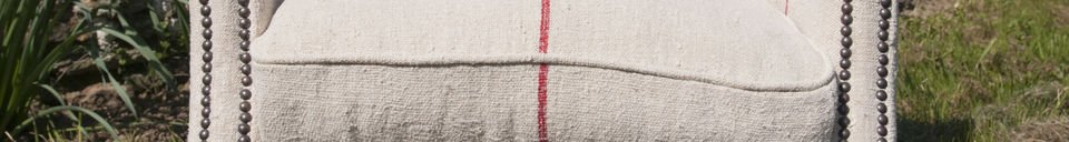 Materialbeschreibung Sessel aus weißem Leinen Fontaine
