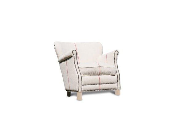 Sessel aus weißem Leinen Fontaine ohne jede Grenze