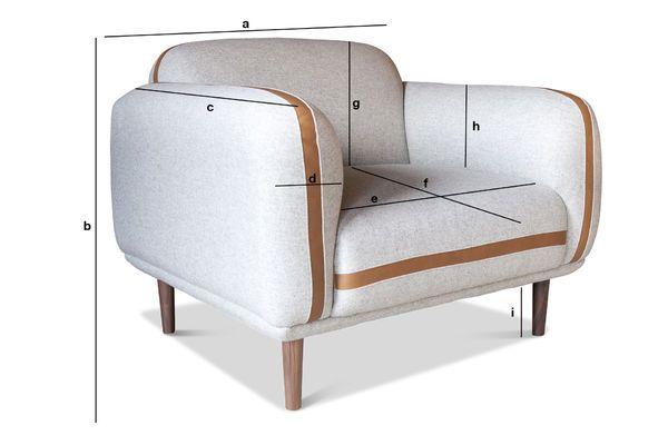 Produktdimensionen Sessel aus Wolle Britta