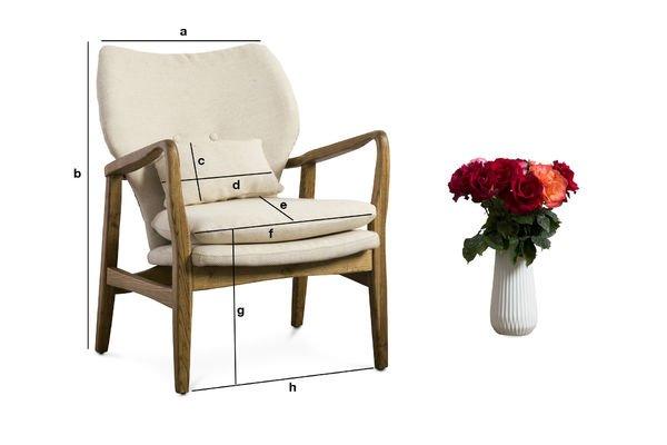 Produktdimensionen Sessel Breda