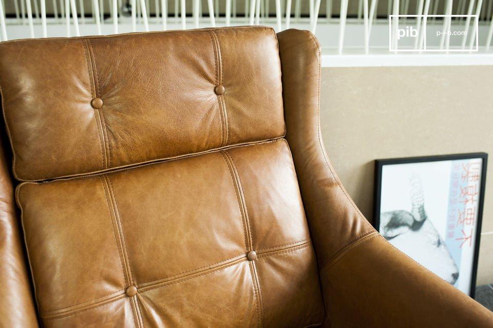 Der Sitz und die Rückenlehne besitzen schöne Details