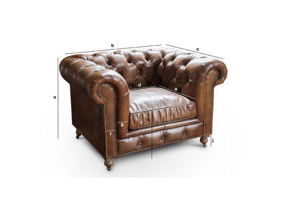Produktdimensionen Sessel Chesterfield Saint Paul