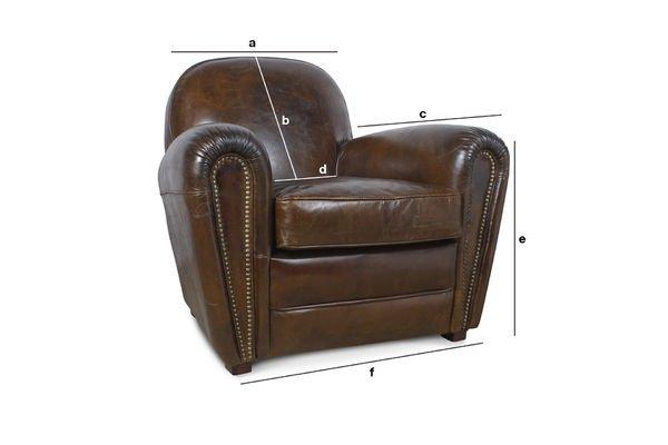 Produktdimensionen Sessel Cigar Club