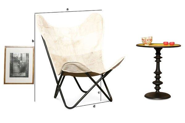 Produktdimensionen Sessel Colina