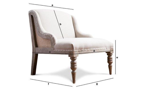 Produktdimensionen Sessel Dumas