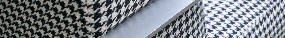 Materialbeschreibung Sessel Elthon mit Hahnentritt