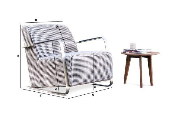 Produktdimensionen Sessel Elthon mit Hahnentritt