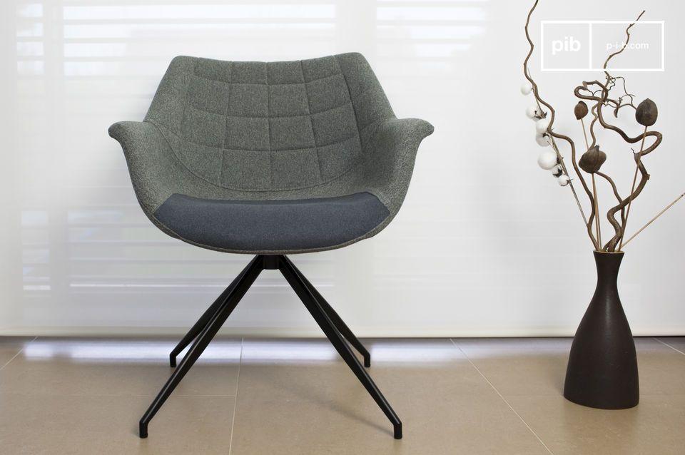 Tatsächlich sind die Formen dieses Sessels perfekte Beispiele dieses Designs: ihre runde