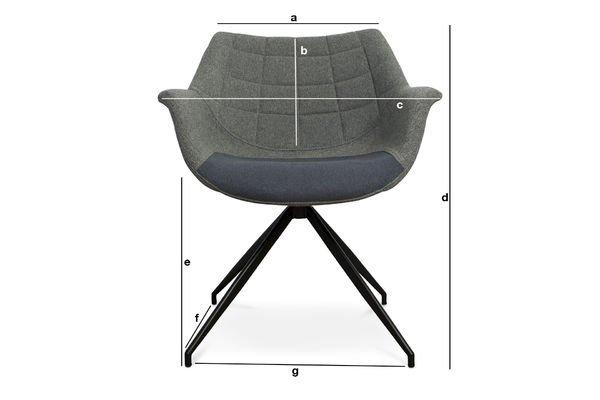 Produktdimensionen Sessel Grimsson Grau
