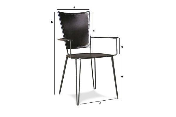 Produktdimensionen Sessel Italia