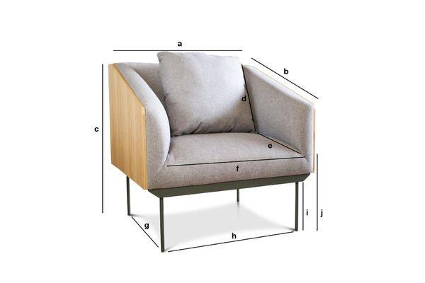 Produktdimensionen Sessel Jackson