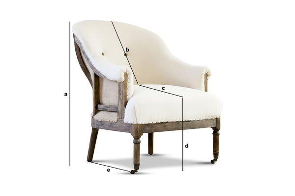 Produktdimensionen Sessel Léonie Rund