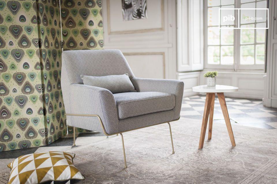 Ein Sessel mit typischen retro Muster der 60er Jahre