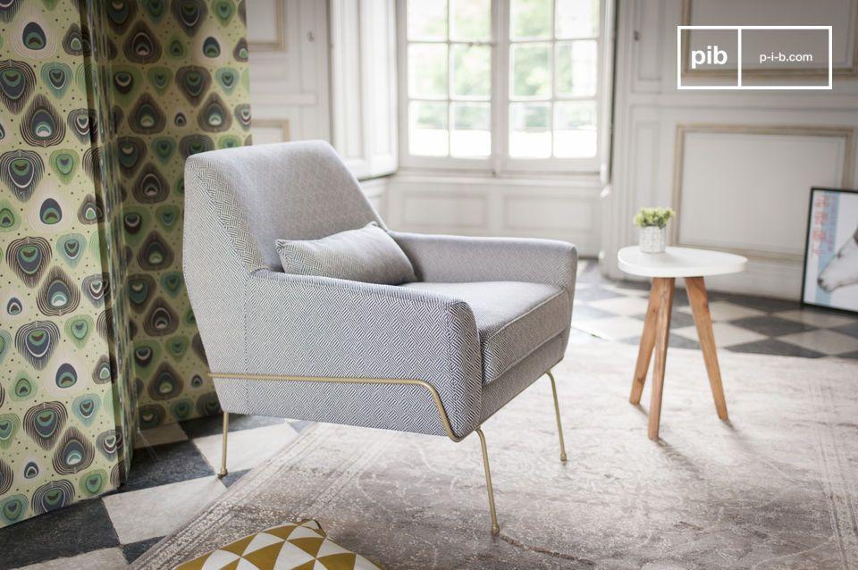 Ein schicker retro Look mit idealem Komfort: der Sessel Lounge Hilda bringt eine vintage Note in