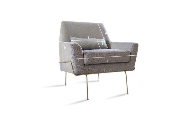 Produktdimensionen Sessel Lounge Hilda