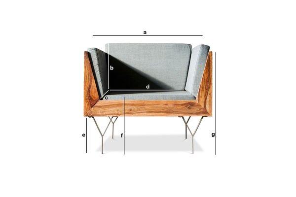 Produktdimensionen Sessel Mabillon