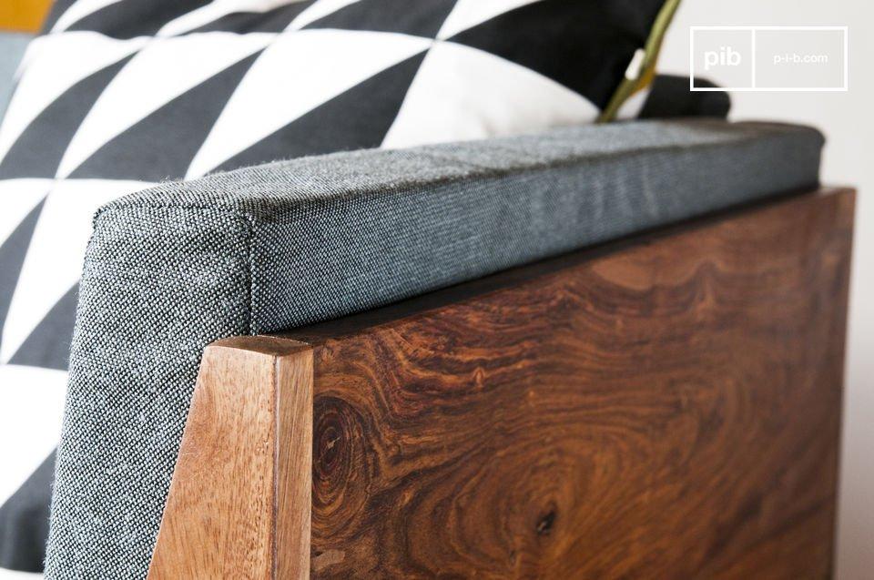 Der Sessel Mabillon bringt einen Hauch von skandinavischem vintage Stil in Wohnzimmer oder
