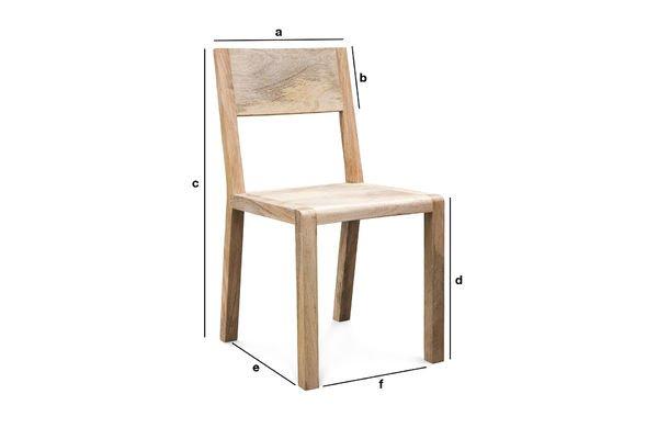 Produktdimensionen Sessel Möka