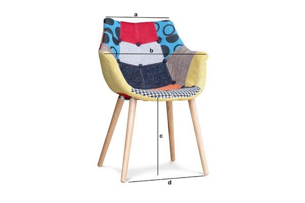 Produktdimensionen Sessel Neo Patchwork